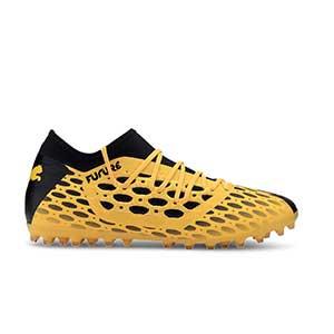 Puma Future 5.3 MG - Botas fútbol Puma MG para césped artificial - amarillas y negras - pie derecho