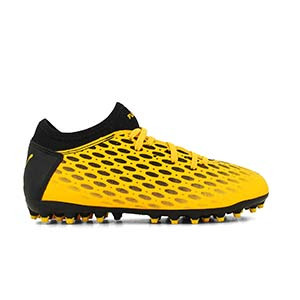 Puma Future 5.4 MG Jr - Botas fútbol Puma MG césped natural o artificial - amarillas y negras - derecho
