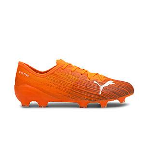 Puma Ultra 2.1 FG/AG - Botas de fútbol Puma FG/AG para césped natural y artificial - naranjas - pie derecho