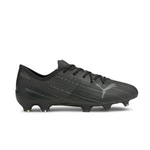 Puma Ultra 2.1 FG/AG - Botas de fútbol Puma FG/AG para césped natural y artificial - negras - pie derecho