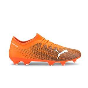 Puma Ultra 3.1 FG/AG - Botas de fútbol Puma FG/AG para césped natural y artificial - naranjas - pie derecho