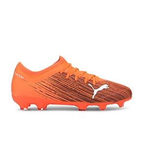 Puma Ultra 3.1 FG/AG Jr - Botas de fútbol infantiles Puma FG/AG para césped natural y artificial - naranjas - pie derecho