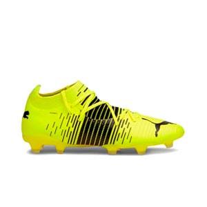Puma Future Z 3.1 FG/AG - Botas fútbol Puma FG/AG césped natural o artificial - amarillas flúor - pie derecho