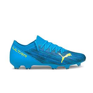 Puma Ultra 3.2 FG/AG - Botas de fútbol Puma FG/AG para césped natural y artificial - azules - pie derecho