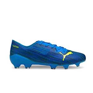 Puma Ultra 2.2 FG/AG - Botas de fútbol Puma FG/AG para césped natural y artificial - azules - pie derecho