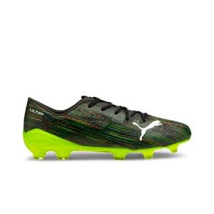 Puma Ultra 2.2 FG/AG - Botas de fútbol Puma FG/AG para césped natural y artificial - negras - pie derecho