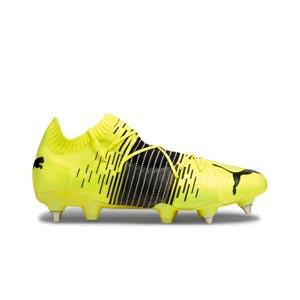 Puma Future Z 1.1 MxSG - Botas fútbol Puma MxSG césped natural húmedo - amarillas flúor - pie derecho