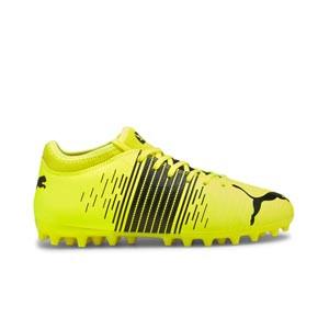 Puma Future Z 4.1 MG Jr - Botas fútbol infantiles Puma MG césped artificial - amarillas flúor - pie derecho