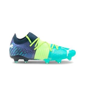 Puma Future Z 1.2 FG/AG - Botas de fútbol Puma FG/AG para césped natural o artificial - azules, verdes