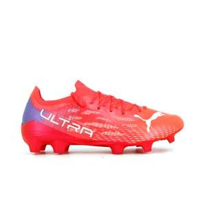 Puma Ultra 1.3 FG/AG - Botas de fútbol adidas FG para césped natural o artificial de última generación - rojas