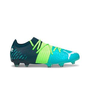 Puma Future Z 2.2 FG/AG - Botas de fútbol Puma FG/AG para césped natural o artificial - azules, verdes