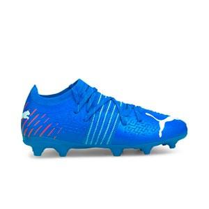 Puma Future Z 2.2 FG/AG Jr - Botas de fútbol infantiles con tobillera sin cordones adidas FG para césped natural o artificial de última generación - negras