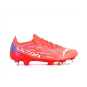 Puma Ultra 1.3 MxSG - Botas de fútbol Puma SG para césped natural húmedo - rosas rojizas