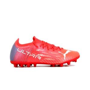 Puma Ultra 1.3 MG - Botas de fútbol Puma MG para césped artificial - rosas rojizas