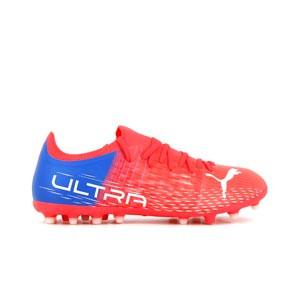 Puma Ultra 3.3 MG - Botas de fútbol Puma MG para césped artificial - rosas rojizas