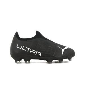 Puma Ultra 3.3 FG/AG Jr - Botas de fútbol infantiles Puma FG/AG para césped natural o artificial - negras
