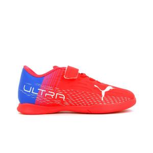 Puma Ultra 3.3 IT V Jr - Zapatillas de fútbol multitaco con tobillera sin cordones adidas TF suela turf - rojas