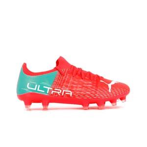 Puma Ultra 3.3 FG Wn's - Botas de fútbol Puma para mujer FG/AG para césped natural o artificial - rosas rojizas