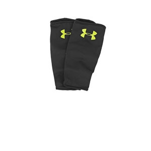 Fundas sujeta espinilleras Under Armour - Mangas compresivas Under Armour para sujeción de espinilleras - Negro - frontal