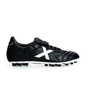 Munich Mundial U25 - Botas de fútbol de piel de canguro Munich U25 para césped artificial - Negro - derecho