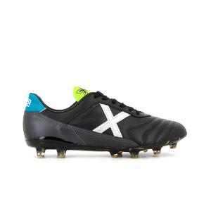 Munich Mundial 2.0 FG - Botas de fútbol de piel de canguro Munich suela FG para césped natural o artificial largo - negras