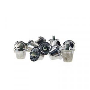 Tacos aluminio Rucanor cilíndricos - Tacos de recambio universales para botas SG (4 uds x 16 mm y 8 uds x 13 mm) - 2732901-Tacos Aluminio