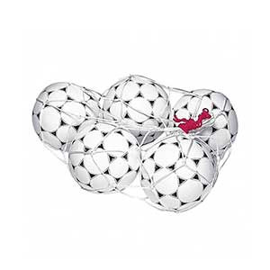 Red 5 balones Rucanor - Red para 5 balones Rucanor - blanca - frontal