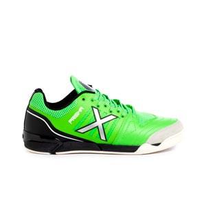 Munich Prisma - Zapatillas de fútbol sala de piel Munich suela lisa IN - verdes, negras
