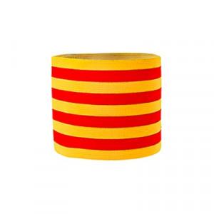 Brazalete de capitán infantil 30 cm - Brazalete de capitán niño Cataluña - amarillo/rojo - dorso