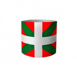 Brazalete de capitán 36 cm - Brazalete de capitán País Vaco adulto - Rojo / Verde - frontal