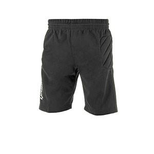Pantalón portero Reusch Starter niño - Pantalón corto infantil acolchado de portero Reusch Starter - negro - frontal