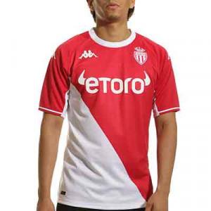Camiseta Kappa AS Mónaco 2021 2022 Kombat - Camiseta primera equipación Kappa AS Mónaco 2021 2022 - roja, blanca