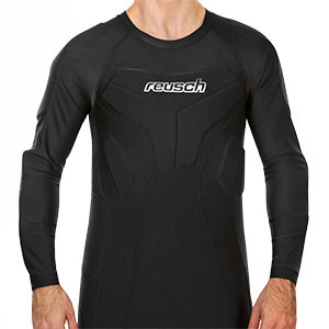 Camiseta interior portero Reusch CS 3/4 Padded Pro - Camiseta compresiva manga larga de portero Reusch - negra - frontal