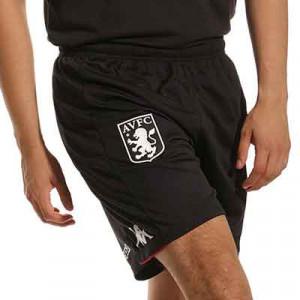 Short Kappa Aston Villa entrenamiento Pro 5 - Pantalón corto de entrenamiento del Aston Villa - negro
