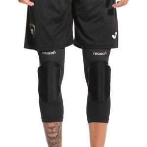 Rodilleras Reusch Protector Sleeve - Rodilleras para portero de fútbol sala Reusch - negras - frontal