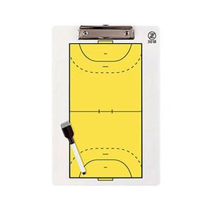 Pizarra entrenador fútbol sala Zastor 34x23 cm - Pizarra de doble cara para entrenador de fútbol sala Zastor - amarilla - frontal