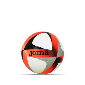 Balón Joma Hybrid Sala Victory 58 cm - Balón de fútbol sala Joma talla 58 cm - blanco, naranja