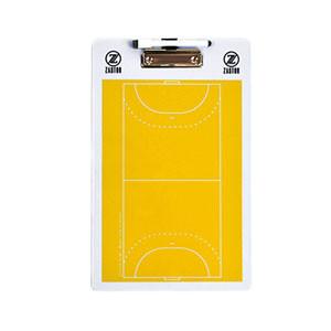 Pizarra entrenador fútbol sala Zastor 41x25 cm - Pizarra de doble cara para entrenador de fútbol sala Zastor - amarilla - frontal