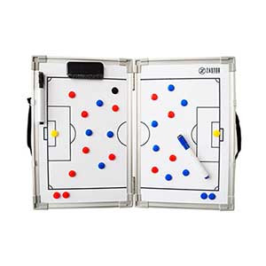 Pizarra táctica magnética plegable Zastor 45x60 cm - Pizarra táctica magnética plegable para fútbol Zastor (45 x 60 cm) - blanca - frontal