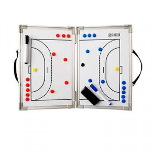 Pizarra táctica magnética plegable Zastor 45x60 cm - Pizarra táctica magnética plegable para fútbol sala Zastor (45 x 60 cm) - blanca - frontal