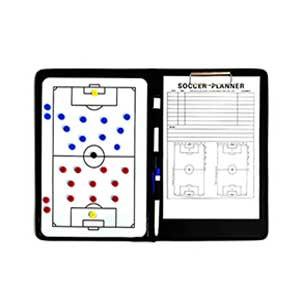 Carpeta entrenador fútbol Zastor 37x25 cm - Carpeta táctica para entrenador de fútbol Zastor - negra - interior