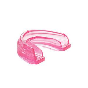 Protector bucal futbol Shock Doctor Braces - Protección bucal para futbol para deportistas con brackets Shock Doctor - rosa - frontal