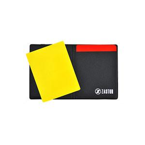 Tarjetero árbitro Zastor Club - Tarjetero para árbitro de fútbol Zastor (8,5 x 11 cm) - negro - Frontal