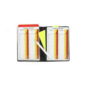 Tarjetero árbitro Zastor Rule - Tarjetero para árbitro de fútbol Zastor (9,5 x 12,5 cm) - negro - frontal