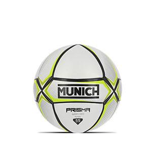 Balón Munich Prisma Indoor talla 55 cm - Balón de fútbol sala Munich talla 55 cm - blanco y amarillo - frontal