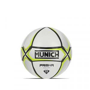 Balón Munich Prisma Indoor talla 58 cm - Balón de fútbol sala Munich talla 58 cm - blanco y amarillo - frontal