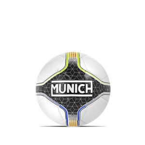 Balón Munich Hera Indoor RFEF Talla futsal - Balón de fútbol sala Munich Federació Catalana de Futbol talla 55 cm - blanco y negro - frontal