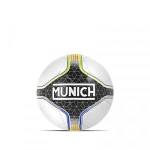 Balón Munich Hera Indoor RFEF Talla futsal - Balón de fútbol sala Munich Federació Catalana de Futbol talla 58 cm - blanco y negro - frontal