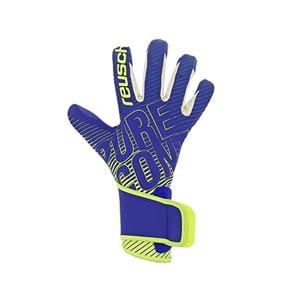 Resuch Pure Contact 3 G3 Duo - Guantes de portero Reusch corte Evolution Negative Cut - azules y amarillas - frontal derecho