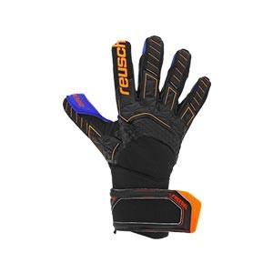 Reusch Attrakt Freegel MX2 - Guantes de portero Reusch corte Evolution Negative Cut - negros y naranjas - derecho